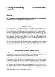 Landtag Brandenburg Drucksache 5/6187 Bericht