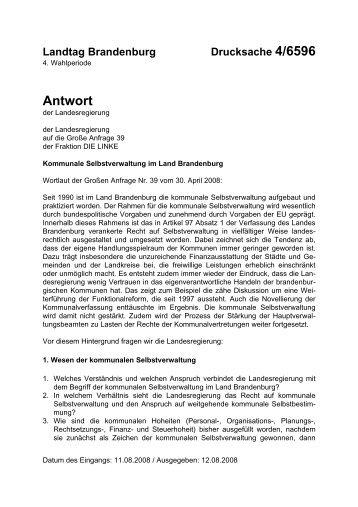 Antwort - Brandenburg.de