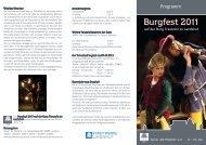 Burgfest-Programm - Landshuter Hochzeit