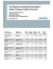 Hochspannungskabelanlagen / High Voltage Cable ... - Siemens