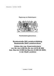 Beschluss Kasernenknoten - Die Regierung von Niederbayern