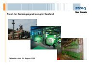 Stand der Grubengasgewinnung im Saarland - NRW spart Energie