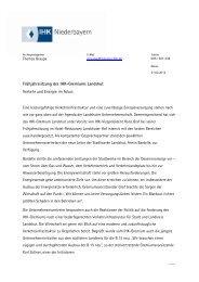 Frühjahrssitzung des IHK-Gremiums Landshut ... - IHK Niederbayern