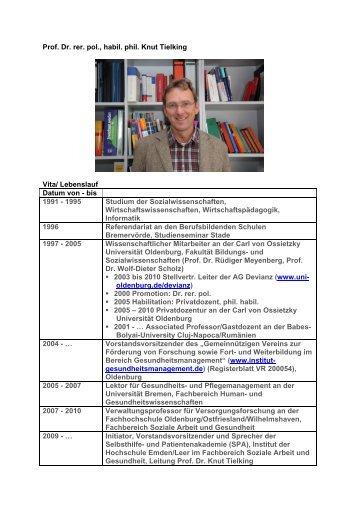 Vita und Publikationen (PDF, 78KB) - IPP - Universität Bremen