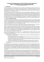 Technische Anforderungen an die Errichtung und den Betrieb von ...