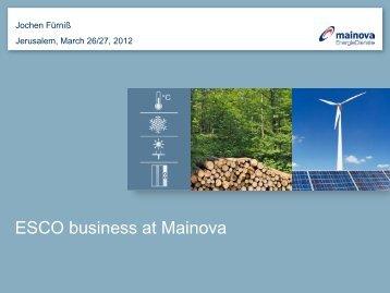 Energy Service Consulting of Mainova ultilty
