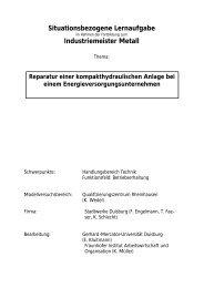 Situationsbezogene Lernaufgabe Industriemeister Metall - Meistersite