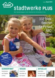 """Liebe Leserin, lieber Leser des """"Stadtwerke PLUS""""- Magazins"""