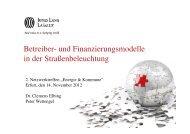 Betreiber- und Finanzierungsmodelle in der ... - ThEGA