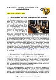 Bürgerbrief vom 16.11.2012 - Stadt Frankenthal