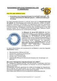 Bürgerbrief vom 11.01.2013 - Stadt Frankenthal