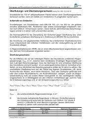 Überflutungs- und Überlastungsnachweis analog DIN 1986-100 ...
