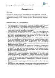 Planungshinweise (Hinweise für die Planung der Versickerungs ...