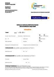 Auftrag zur Lieferung elektrischer Energie durch Stadtwerke Lemgo ...
