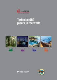 Turboden ORC plants in the world - 2012