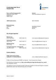 Kontaktdatenblatt Netz neu - Stadtwerke Lingen GmbH