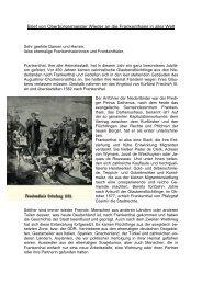 Brief von Oberbürgermeister Wieder an die ... - Stadt Frankenthal