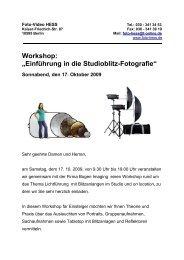 Workshop - Foto Hess (Berlin)
