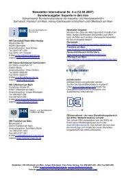 Newsletter International Nr - IHK Frankfurt am Main