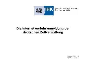 Die Internetausfuhranmeldung der deutschen Zollverwaltung
