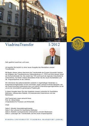 Newsletter Transferstelle 1_2012 - Frankfurt