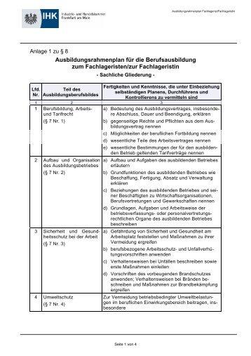 Ausbildungsrahmenplan Verwaltungsfachangestellte