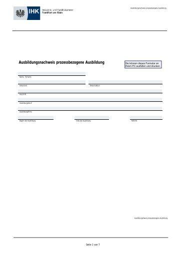 F hren eines schriftlichen ausbildungsnachweises for Ausbildung grafikdesigner frankfurt