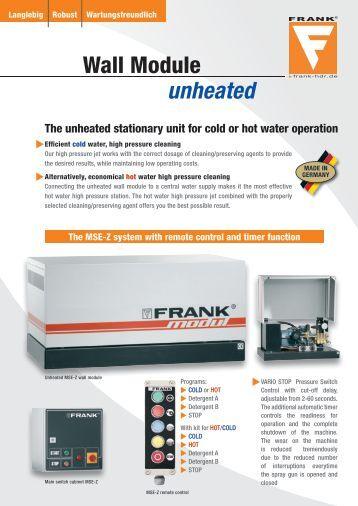 PDF-Download - FRANK GmbH Hochdruckreiniger