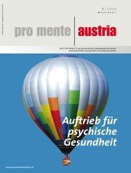 Auftrieb für psychische Gesundheit - pro mente Burgenland