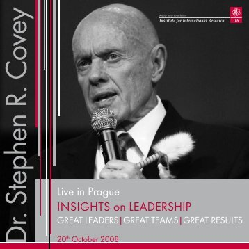 InsIghts on LEADERshIP - Franklin Covey