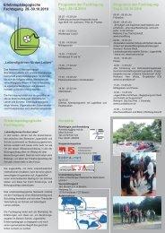 Programm der Fachtagung Tag I, 29.10.2010 - Bundesverband ...
