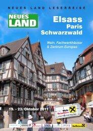 DETAILPROGRAMM Elsass-Schwarzwald-Paris zum ... - Neues Land