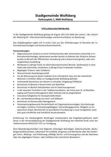 Stadtgemeinde Wolfsberg - Stadt Wolfsberg