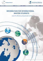 information for international master students - an der Hochschule ...