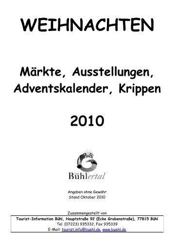 Weihnachtsmärkte 2010 - Reisemobil Interaktiv