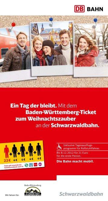 Ein Tag der bleibt. Mit dem Baden-Württemberg-Ticket ... - Bahn.de
