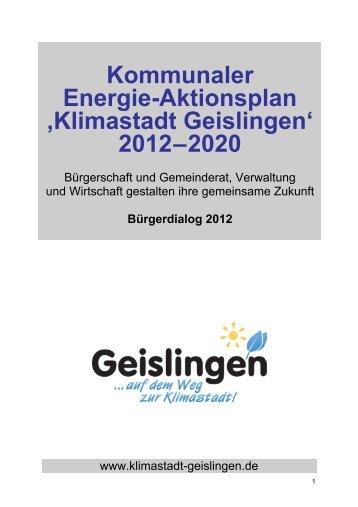 Kommunaler Energie-Aktionsplan ,Klimastadt Geislingen' 2012–2020