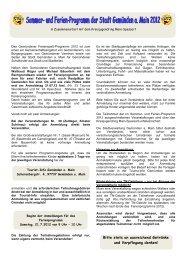 Ferienprogramm 2012.pdf - Stadt Gemünden am Main