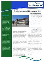Infobroschüre - Stadt Geretsried