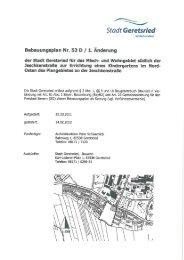 Planzeichnung mit Textfestsetzung - Stadt Geretsried