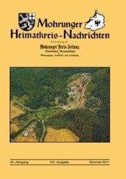 40. Jahrgang 124. Ausgabe Sommer 2011 - Mohrungen