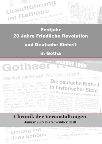 Chronik der friedlichen Revolution - Gotha