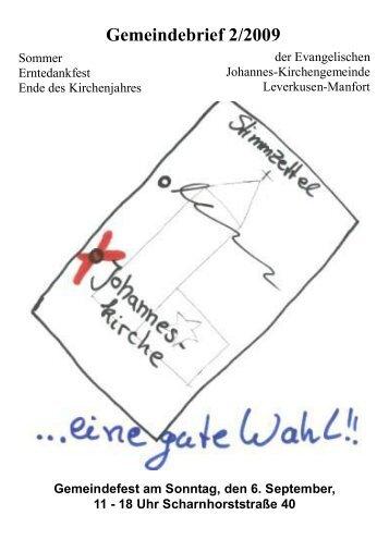 Gemeindebrief 2/2009 - Kirchenkreis Leverkusen