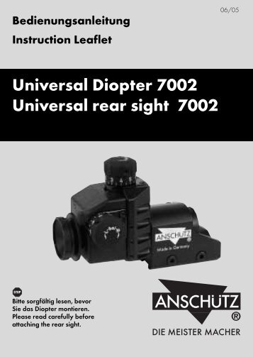 Universal Diopter 7002 Universal rear sight 7002 - JG ANSCHÜTZ ...