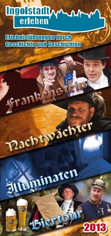 Frankenstein Nachtwächter Illuminaten Biertour - Ingolstadt erleben!