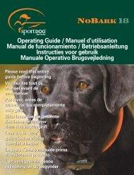 Operating Guide / Manuel d'utilisation Manual de ... - SportDOG Brand