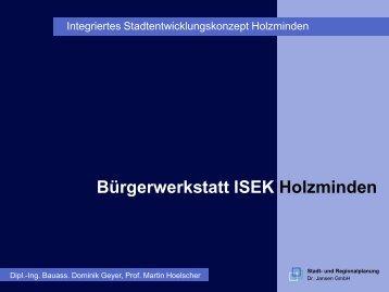 Bürgerwerkstatt ISEK Holzminden - in Holzminden