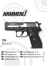 UMAREX HAMMERLI P26 /& S26 Co2 Airgun de Rechange 8 Shot .177 magazines 3 Pack
