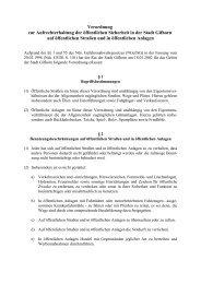 Verordnung über die öffentliche Sicherheit - Stadt Gifhorn