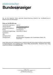 Bundesanzeiger - Stadt Gifhorn
